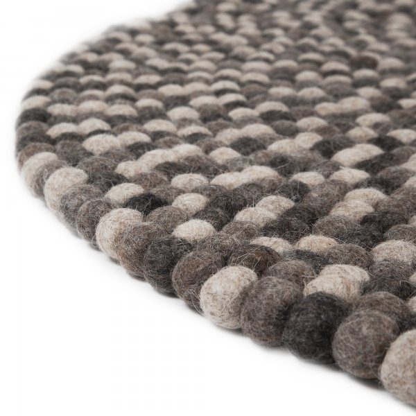 Round Raw Earth Natural Felt Ball Rug Cult Uk