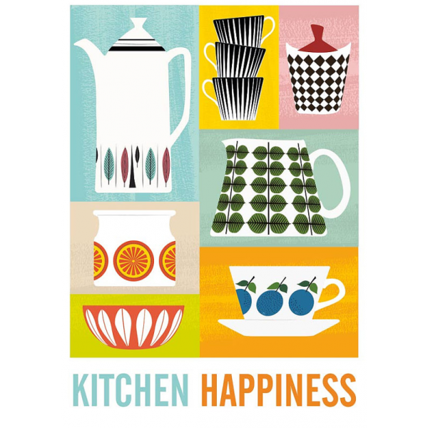 ... Jan Skacelik Kitchen Happiness Retro Print   Multi Coloured. U2039