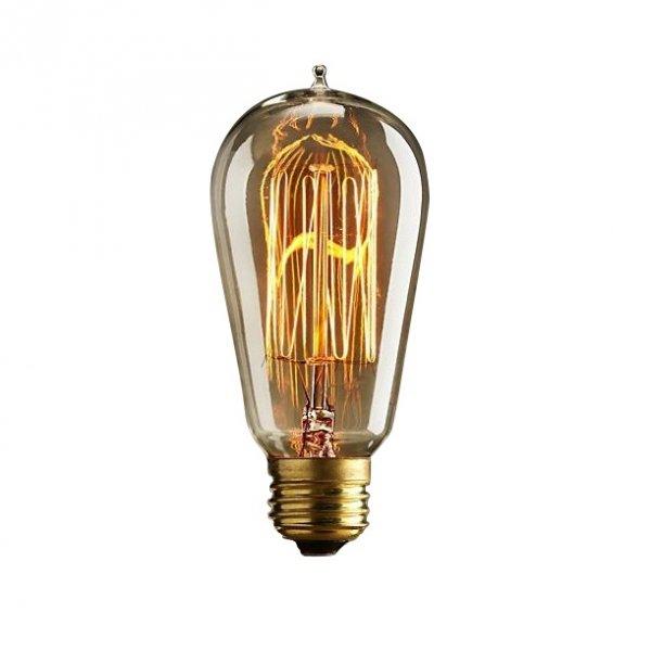 st58 squirrel cage filament dimmable e27 bulb vintage edison bulb. Black Bedroom Furniture Sets. Home Design Ideas