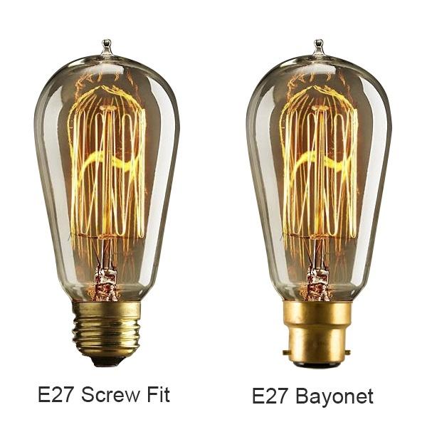 ... Edison Bulb Squirrel Cage Filament - E27 / B22 ...