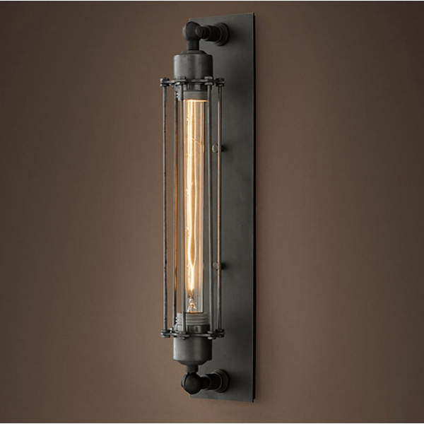 Grand Edison Steel Caged Sconce Wall Light Cult UK