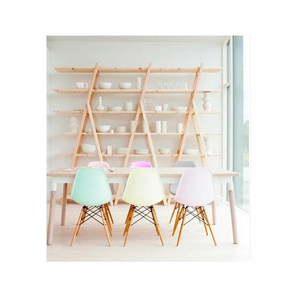 Charles eames style pastel pink dsw chair dining chairs for Chaise dsw charles eames style