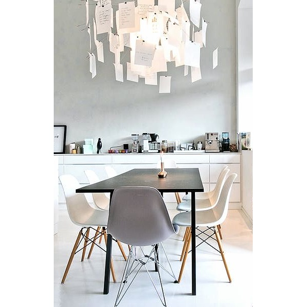 ... Eames Inspired Light Grey DSR Eiffel Chair ...