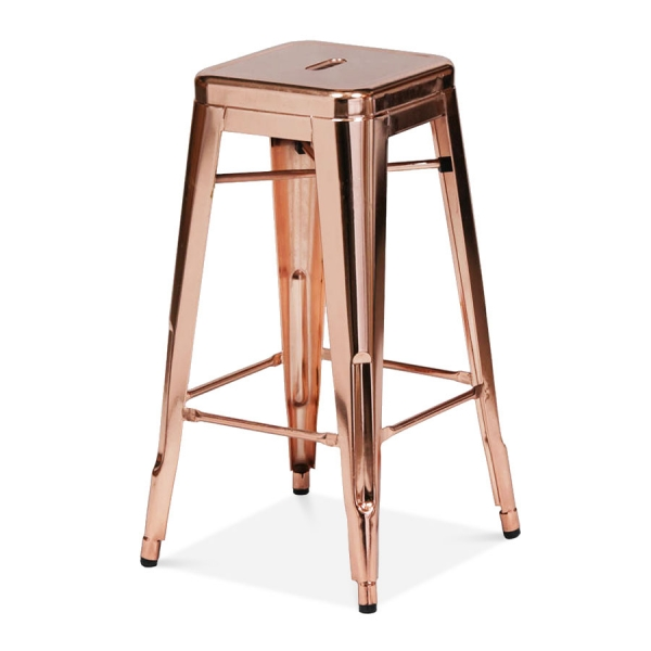 Rose Gold 75cm Tolix Style Industrial Stool Cult Furniture