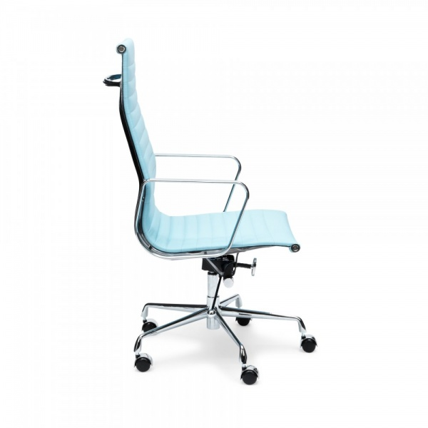 eames inspired office chair. Iconic Designs Light Blue Ribbed Office Chair Eames Inspired F