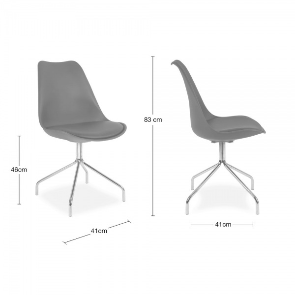 ... Eames Inspired White Dining Chairs With Metal Cross Legs ...