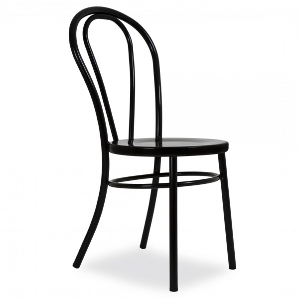 Exceptional Thonet Style Black Retro Bentwood Steel Chair ...