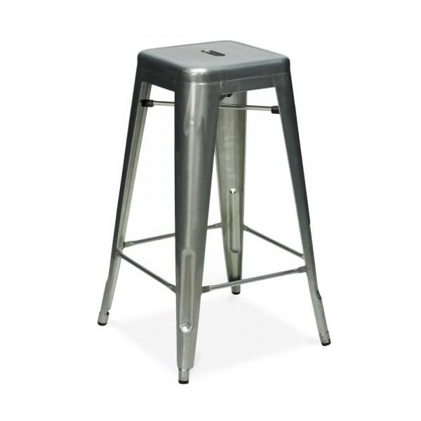 galvanized metal 75cm tolix style industrial stool cult uk. Black Bedroom Furniture Sets. Home Design Ideas