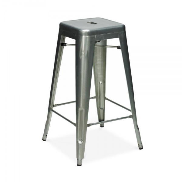 raw industrial gunmetal 65cm tolix style industrial stool. Black Bedroom Furniture Sets. Home Design Ideas