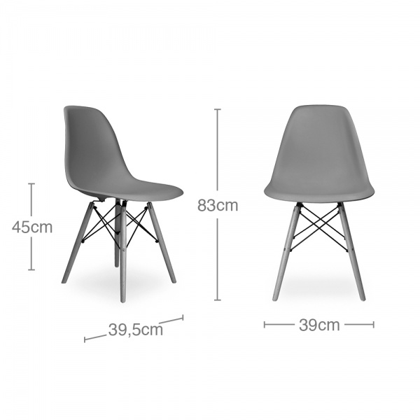 ... Eames Inspired DSW Chair Fabric Upholstered, Black ...
