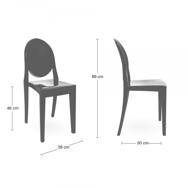 Clear Ghost Style Victoria Chair | Dining Chairs | Cult UK