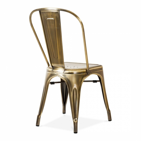xavier pauchard tolix style metal side chair brass chairs xavier pauchard