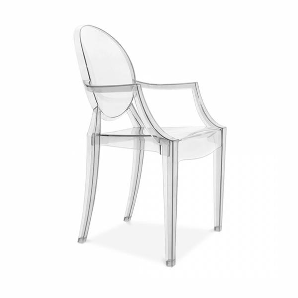 Clear ghost style louis armchair modern armchairs cult uk - Chaise transparente elizabeth ...