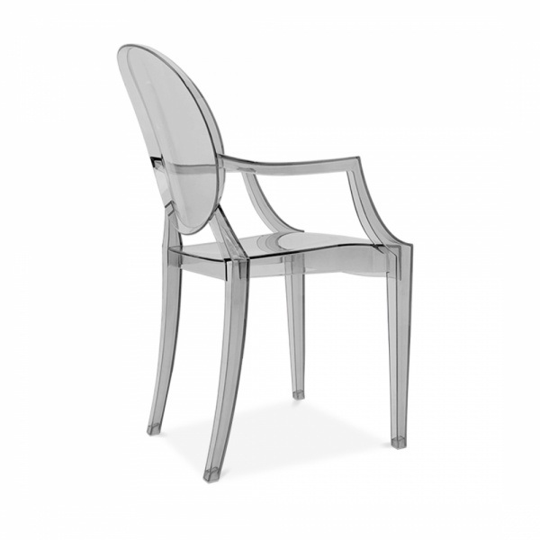 ... Ghost Louis Ghost Armchair   Black Transparent ...