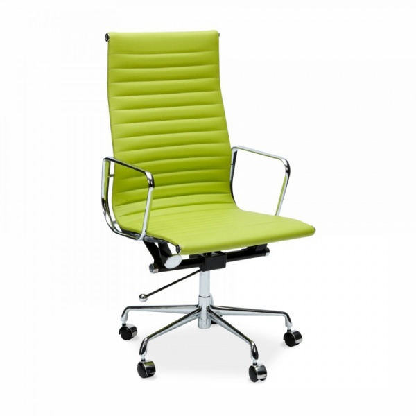 Eames Style Apple Green Ribbed Office Chair  Cult Furniture UK