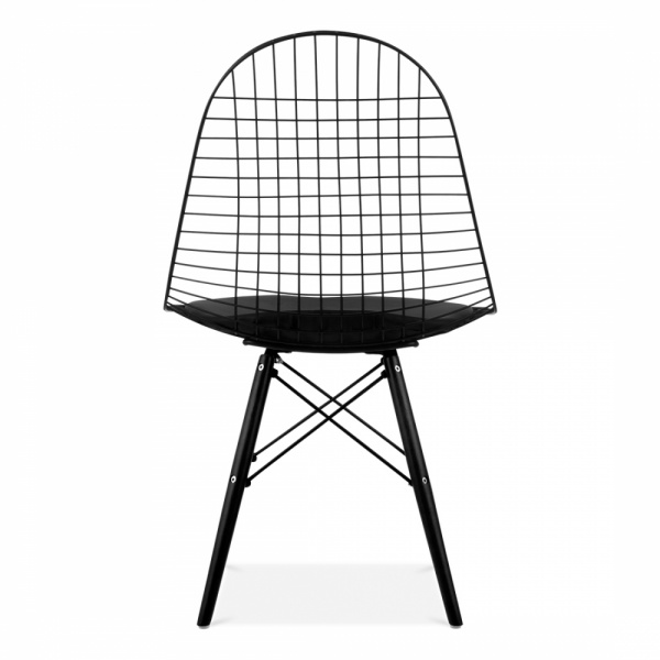 charles eames style black dkr wire chair