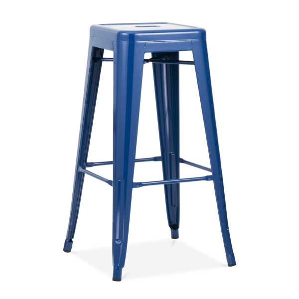 Blue Powder Coated 75cm Tolix Style Industrial Stool  : 1451470074 82101900 from www.cultfurniture.com size 600 x 600 png 144kB