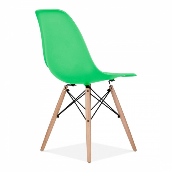 Eames style bright green dsw chair cafe amp dining chairs cult uk