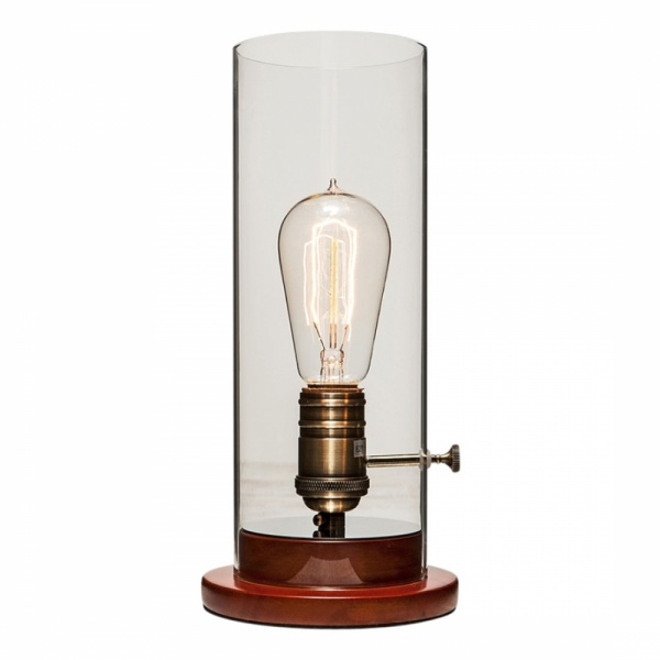 Edison vintage table lamp industrial lighting cult for Lampe de chevet rechargeable