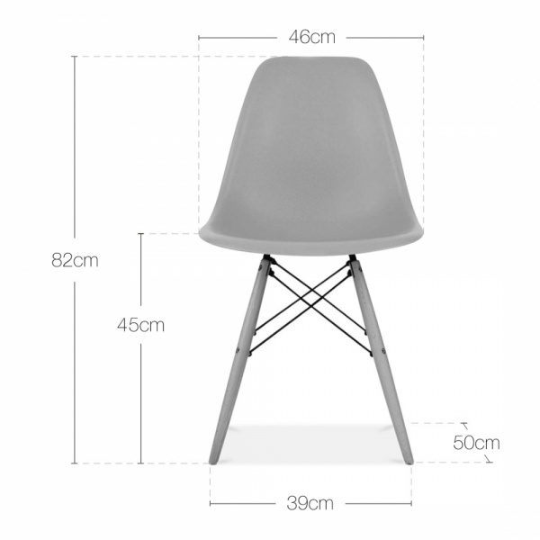 Eames Style White DSW Chair Cafe Side Chairs Cult Furniture UK
