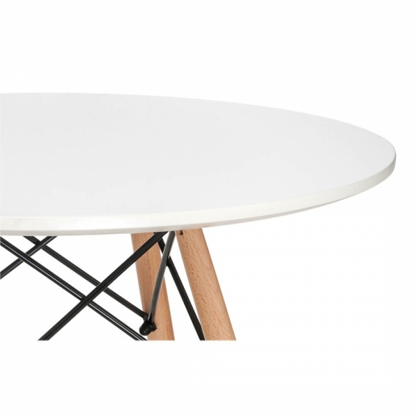 Kids Dining Table: Eames Inspired DSW White Kids Round Table