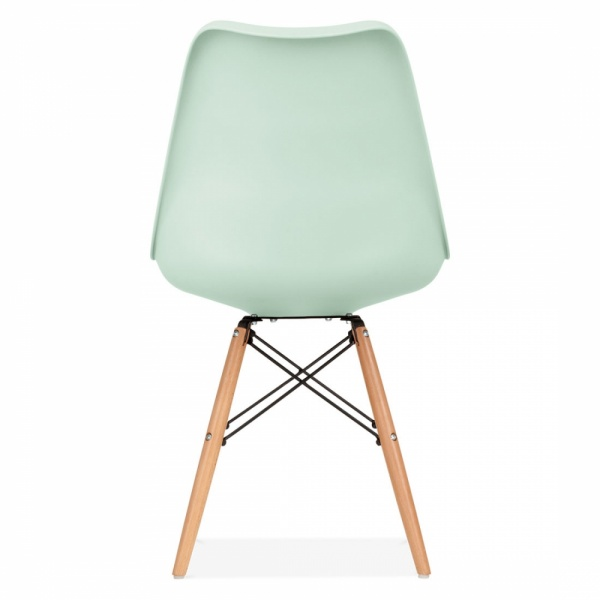 Mint dining chair with dsw style natural wooden legs for Chaise style dsw