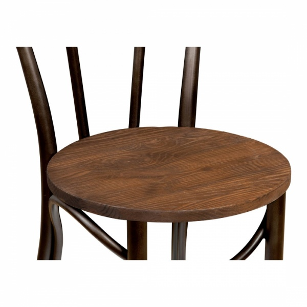 ... Thonet Style Metal Bistro Chair With Wood Seat   Raw Finish ...