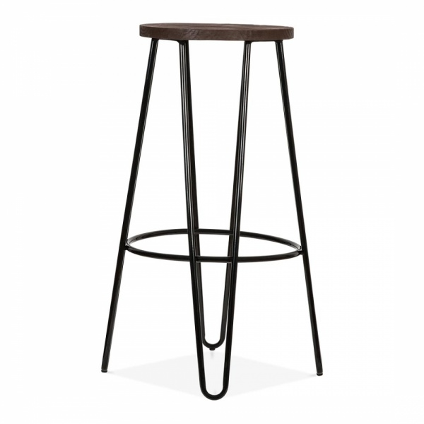 sc 1 st  Cult Furniture & Hairpin Bar Stool with Wood Seat Option Black 76cm | Cult islam-shia.org