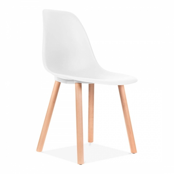 inspired dining chair white eames history replica canada molded plywood knock off