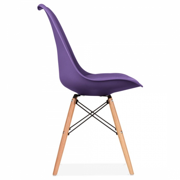 dining chair in purple with dsw style natural wooden legs cult uk. Black Bedroom Furniture Sets. Home Design Ideas
