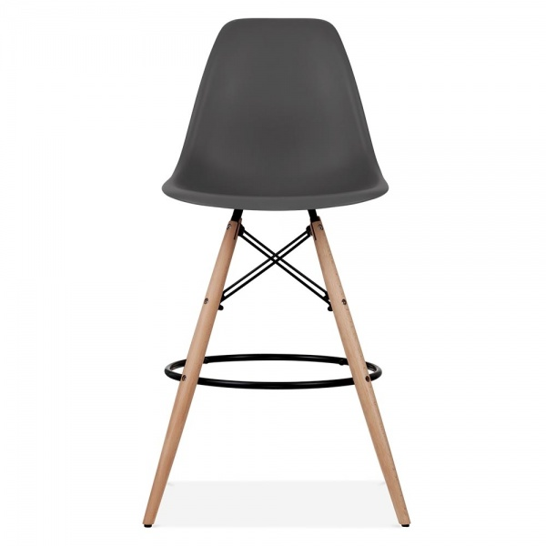 Eames style dark grey dsw stool kitchen bar stools for Chaise style dsw