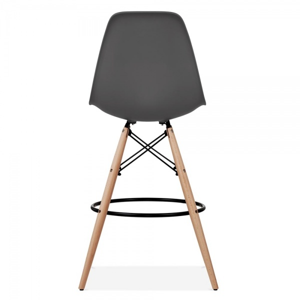 eames style dark grey dsw stool kitchen bar stools. Black Bedroom Furniture Sets. Home Design Ideas