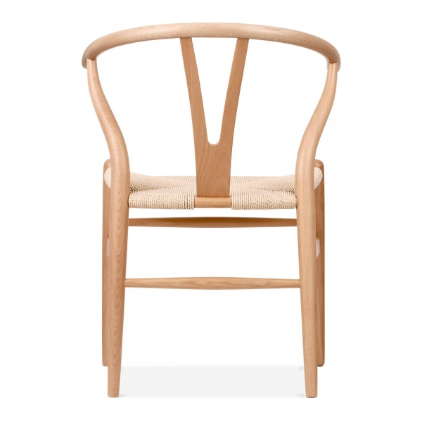 hans wegner style wishbone chair in natural wood cult