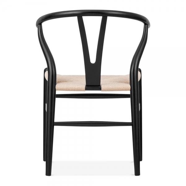 ... Danish Designs Wishbone Chair   Black / Natural ...