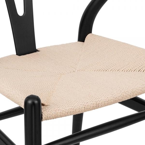 danish designs wishbone chair black natural - Wishbone Chair