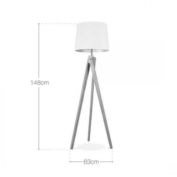 ... Cult Living Tripod Wooden Floor Lamp - White. ‹ - Cult Living Tripod Wooden Floor Lamp In White Wood Cult Furniture UK