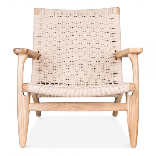 ... Danish Designs CH25 Style Lounge Chair U2013 Natural / Natural Seat ...