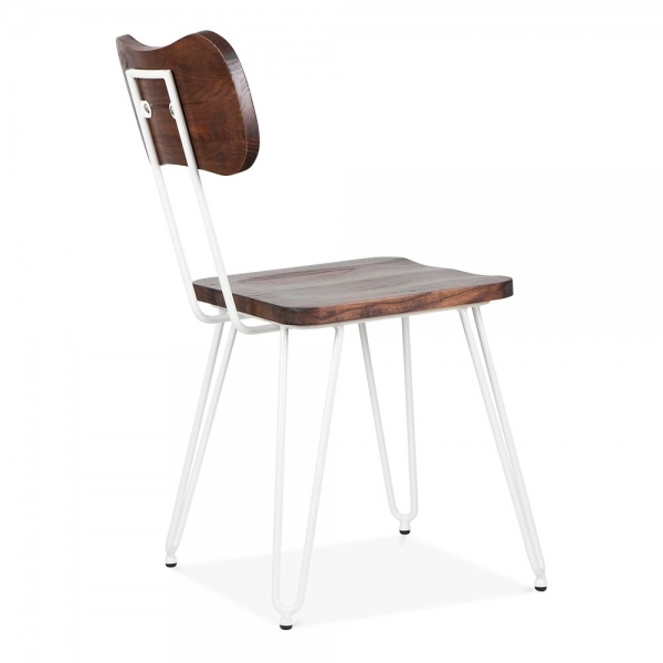 Superior ... Cult Living Susa Metal Hairpin Dining Chair, White ...