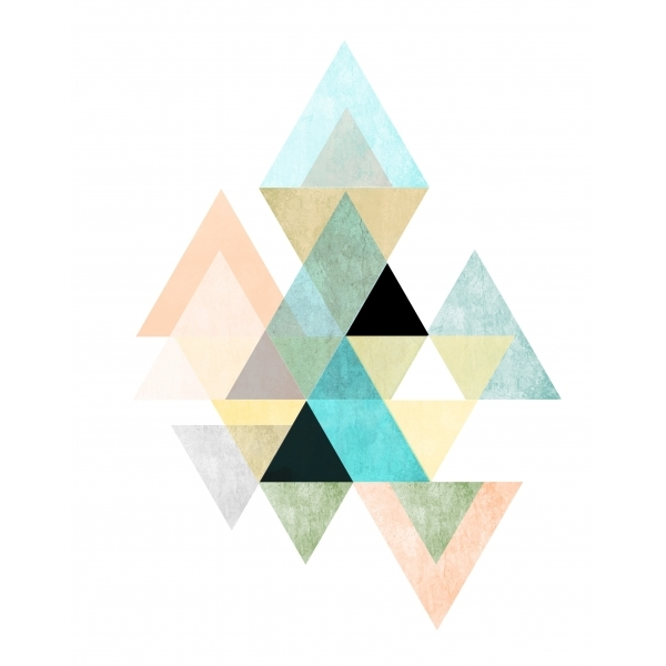 Geometric Graphic Triangle Art Framed Print Cult