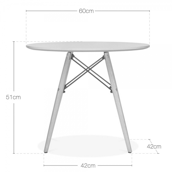 Eames Inspired DSW White Kids Round Table DSW Dining Tables Cult