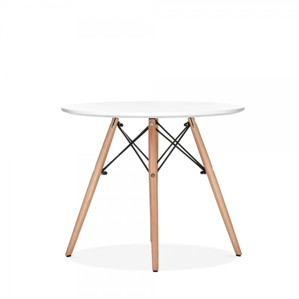 Eames inspired dsw white kids round table dsw dining for Table eames dsw
