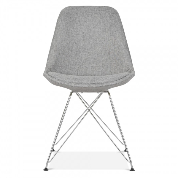 Eames Inspired Cool Grey Upholstered Dining Chair   Cult Furniture UK. Grey Upholstered Dining Chairs. Home Design Ideas