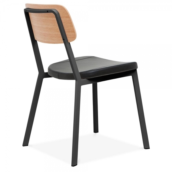 Black Hipster Chair With Black Faux Leather Seat By Cult