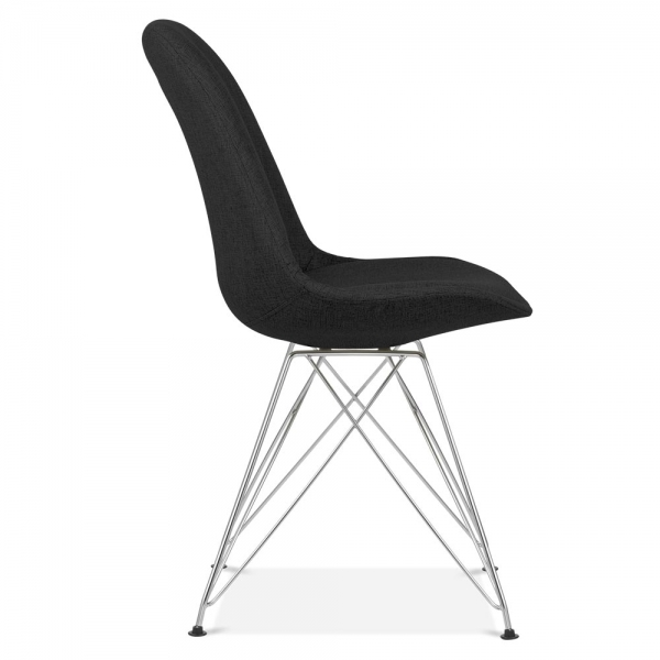 eames inspired black upholstered dining chair cult furniture uk. Black Bedroom Furniture Sets. Home Design Ideas
