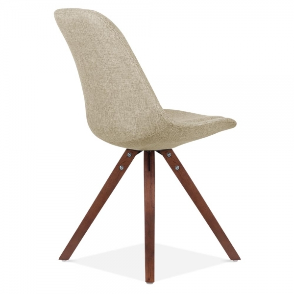 Eames Inspired Pyramid Upholstered Dining Chair in Beige  : 1457008229 67722000 from www.cultfurniture.com size 600 x 600 jpeg 99kB