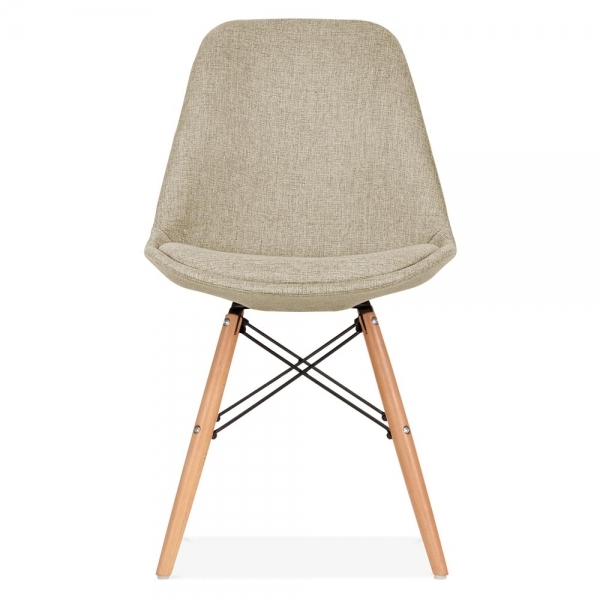 Dining Chairs Clearance: Eames Inspired Beige Upholstered Dining Chair With DSW