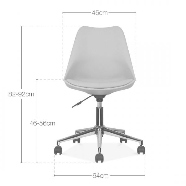 Eames Inspired Transparent Office Chair With Castors  Cult UK