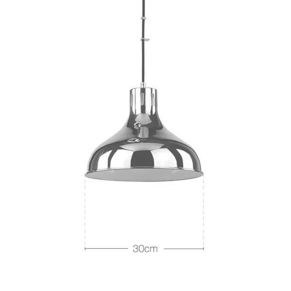 Industrial Rise And Fall Pendant Light: Chrome Smithson Rise & Fall Adjustable Pendant Light