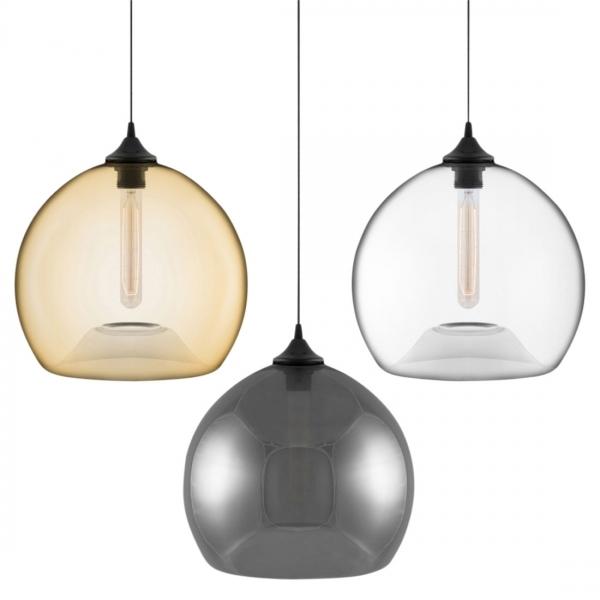 Modern Globe Pendant Lighting : Edison industrial globe clear modern pendant light