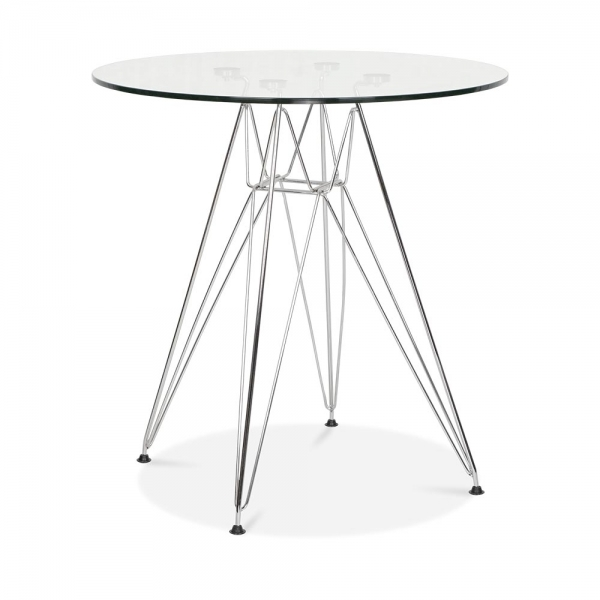 Eames Inspired DSR Dining Set with 70cm Round Glass Table  : 1460733449 34551300 from www.cultfurniture.com size 600 x 600 jpeg 84kB